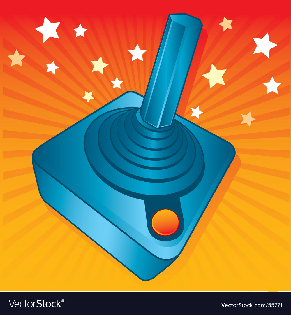 Gamers joystick vector | Price: 1 Credit (USD $1)