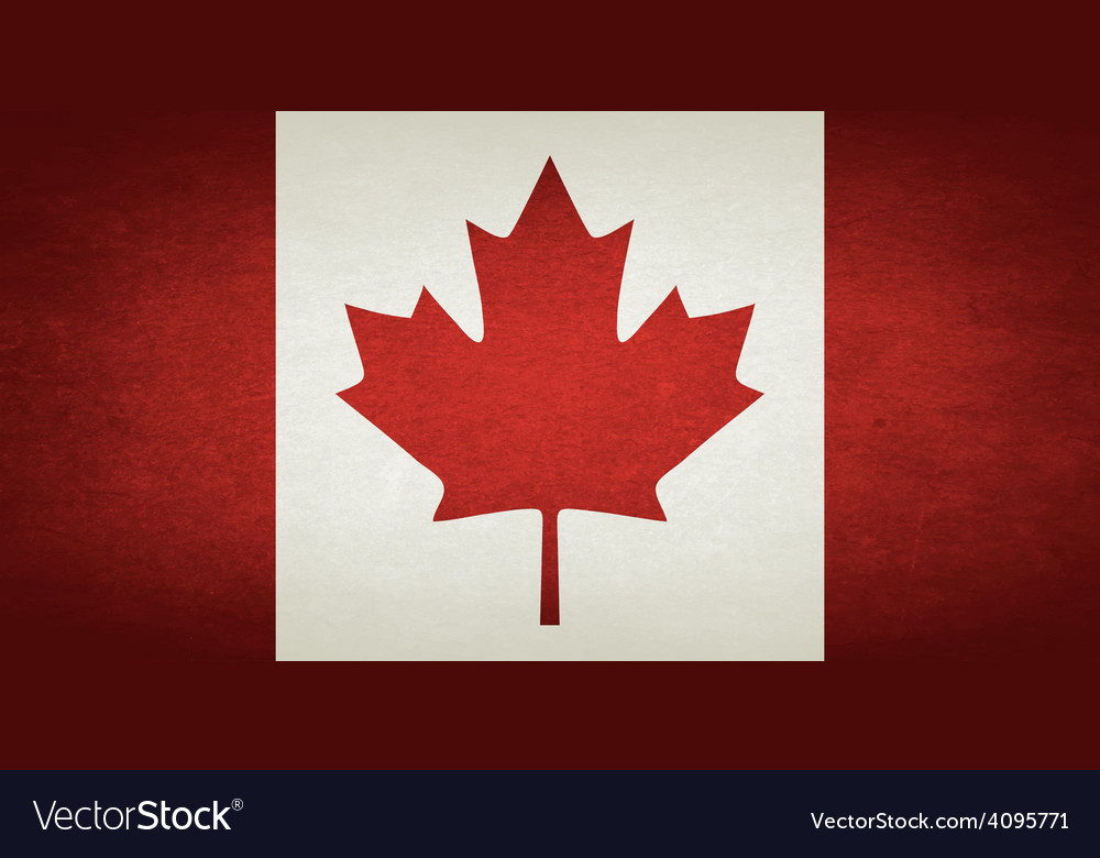 Grunge flag of canada vector | Price: 1 Credit (USD $1)