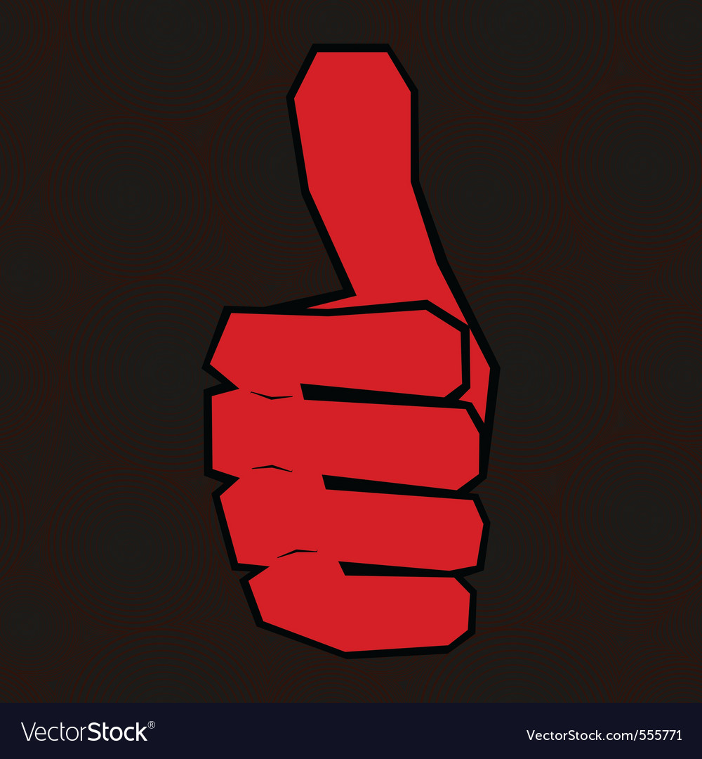Hand with thumb up vector   Price: 1 Credit (USD $1)