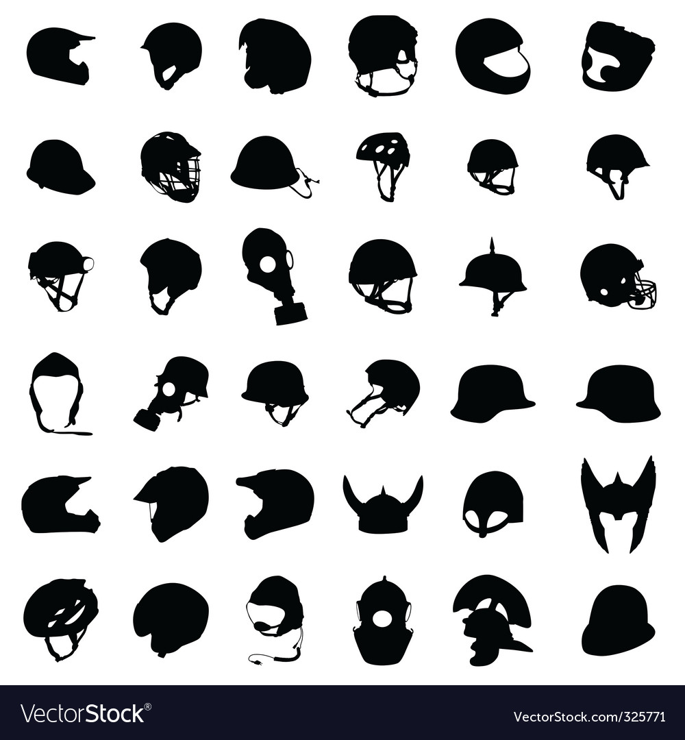 Helmet silhouette vector | Price: 1 Credit (USD $1)