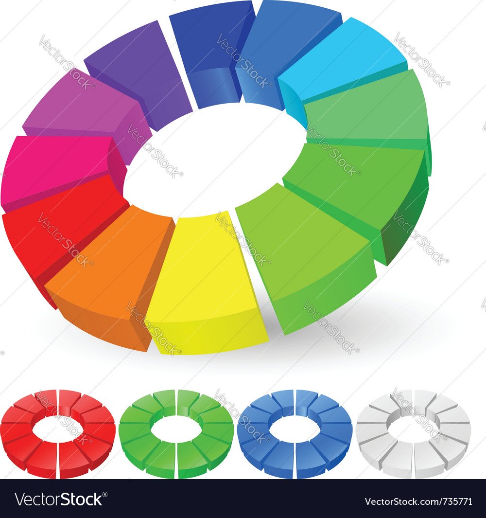Pie chart vector | Price: 3 Credit (USD $3)