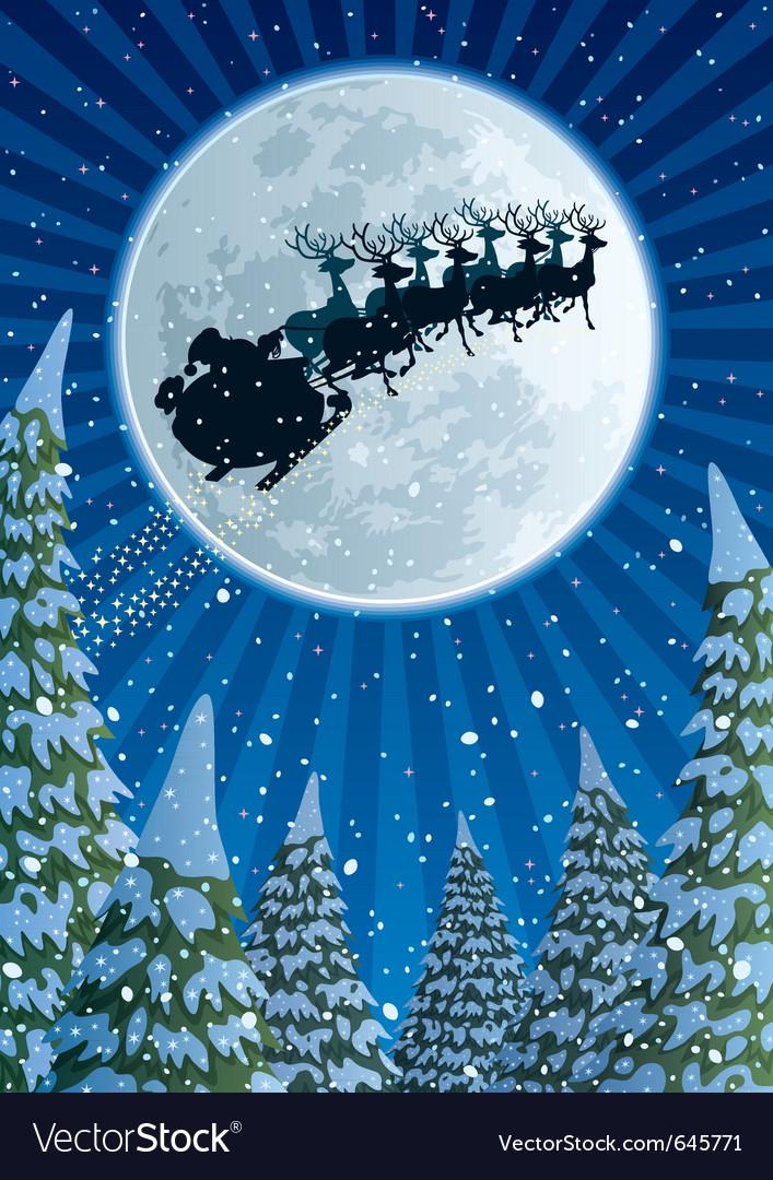 Santa sleigh vector | Price: 3 Credit (USD $3)