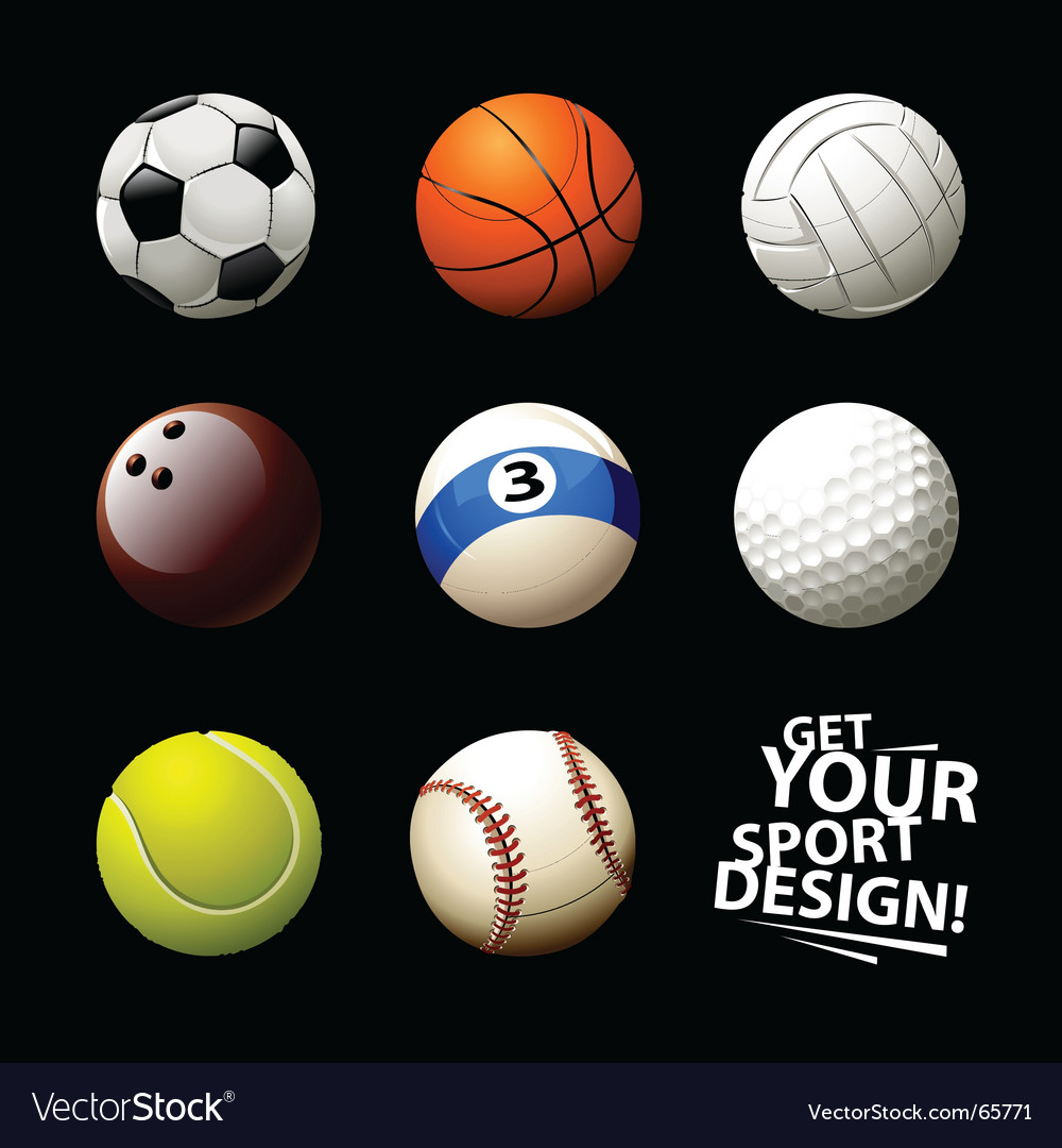 Set of balls vector | Price: 1 Credit (USD $1)