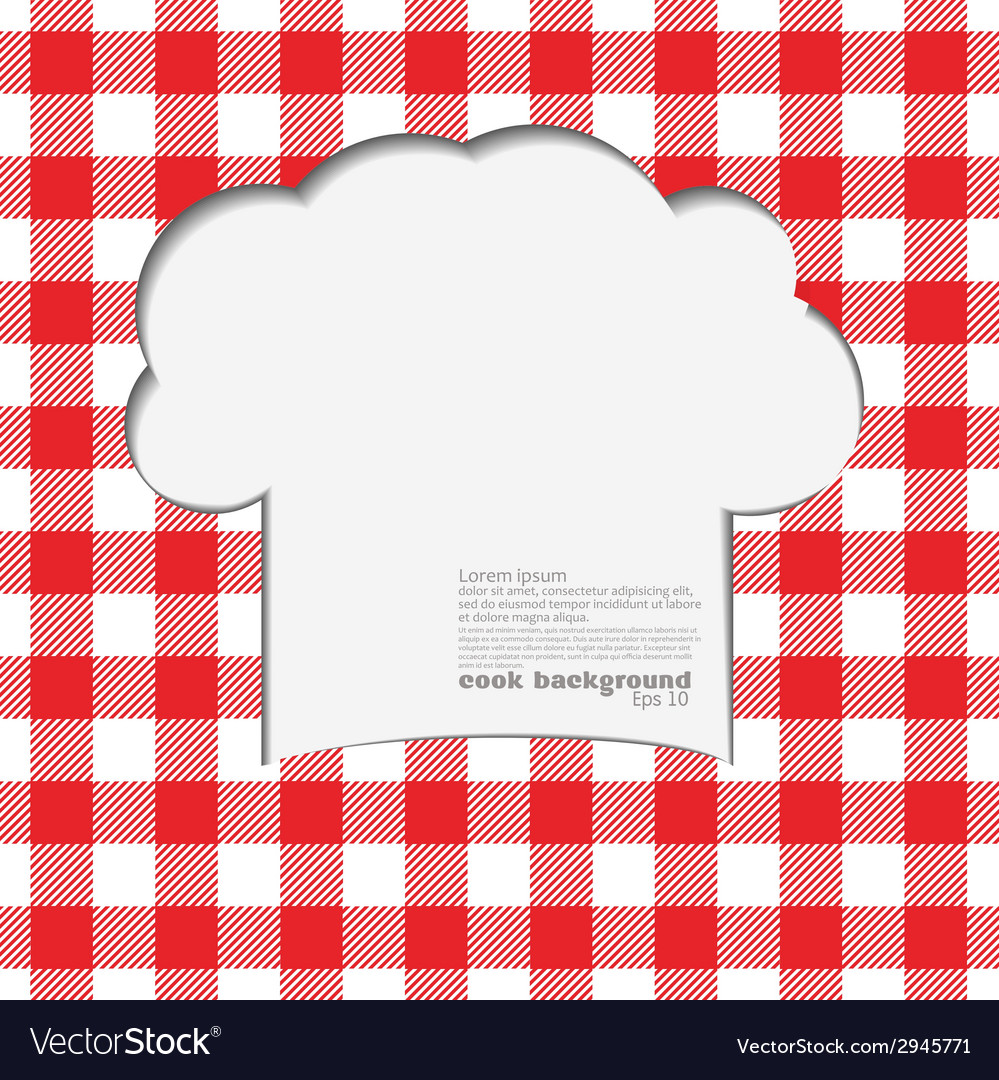 Tablecloth red vector