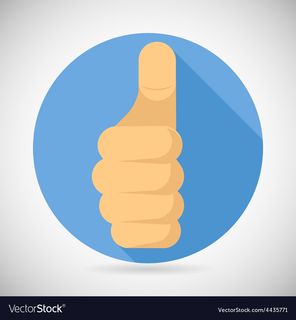 Thumbs up hand palm pointing finger like icon vector | Price: 1 Credit (USD $1)