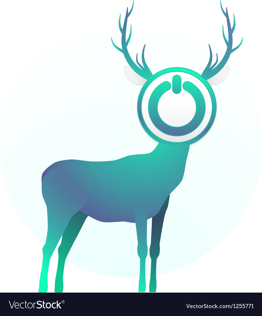 Turn off the deer vector | Price: 1 Credit (USD $1)
