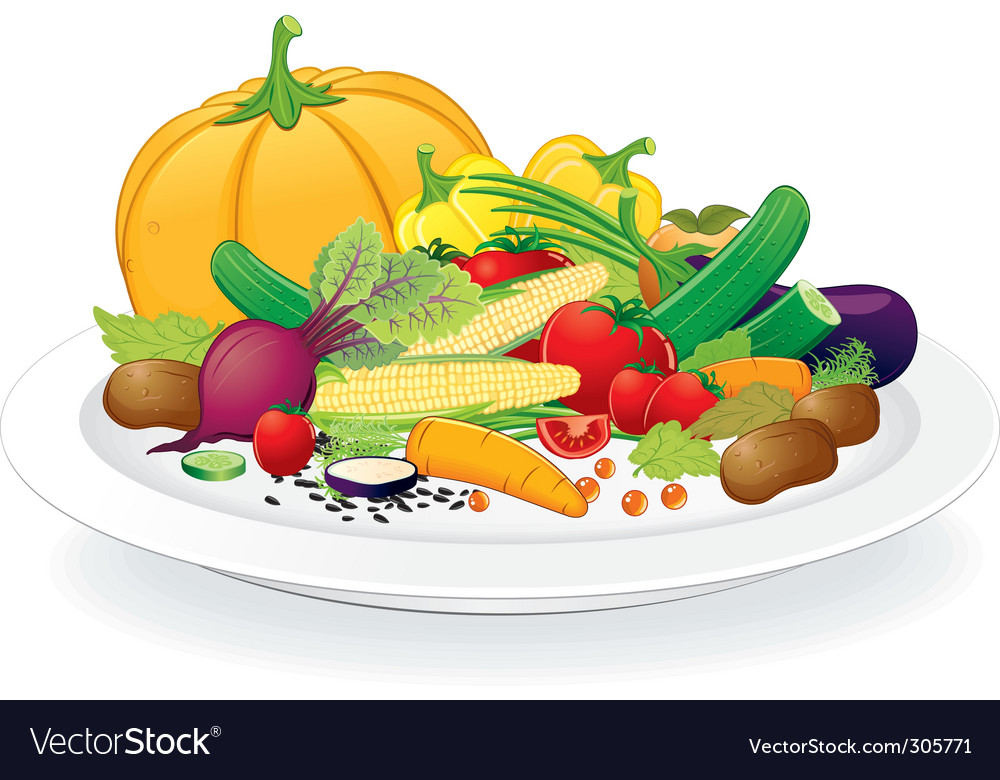 Vegan plate vector | Price: 3 Credit (USD $3)
