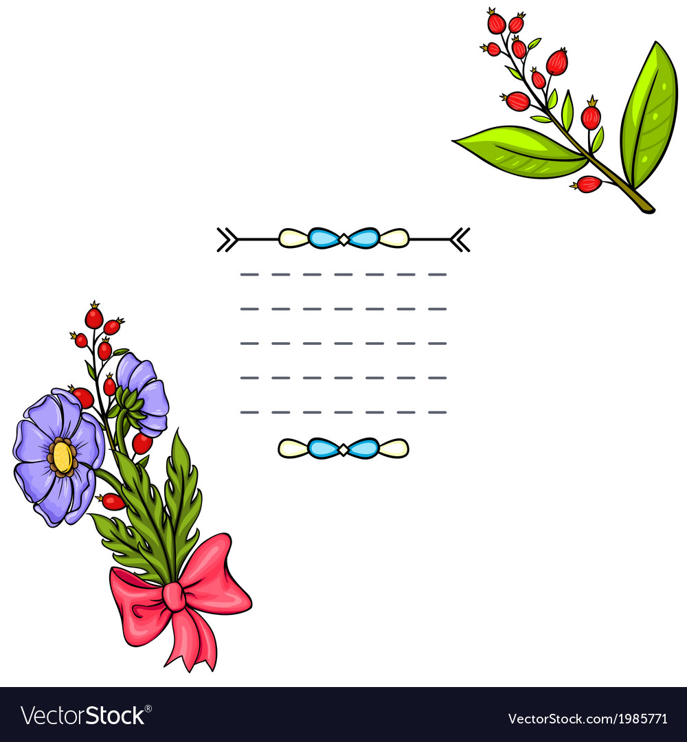 Vintage background with cartoon flowers vector   Price: 1 Credit (USD $1)