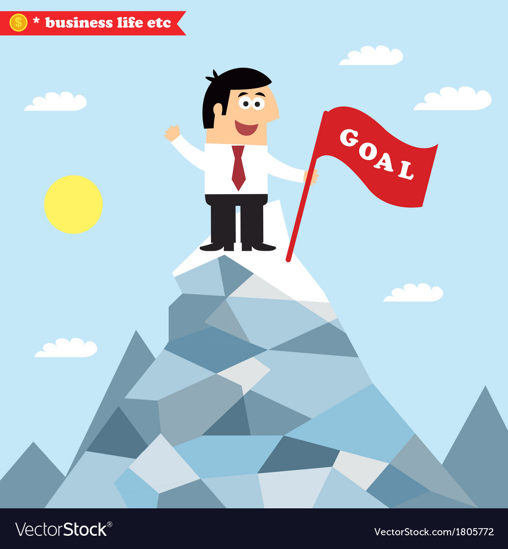 Business goal achievement vector | Price: 1 Credit (USD $1)