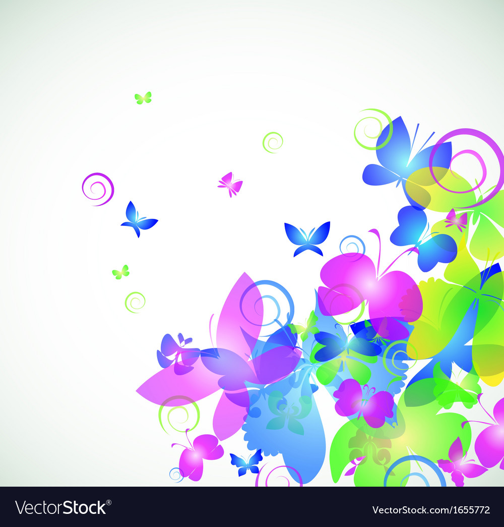 Colorful abstract background with butterfly vector | Price: 1 Credit (USD $1)