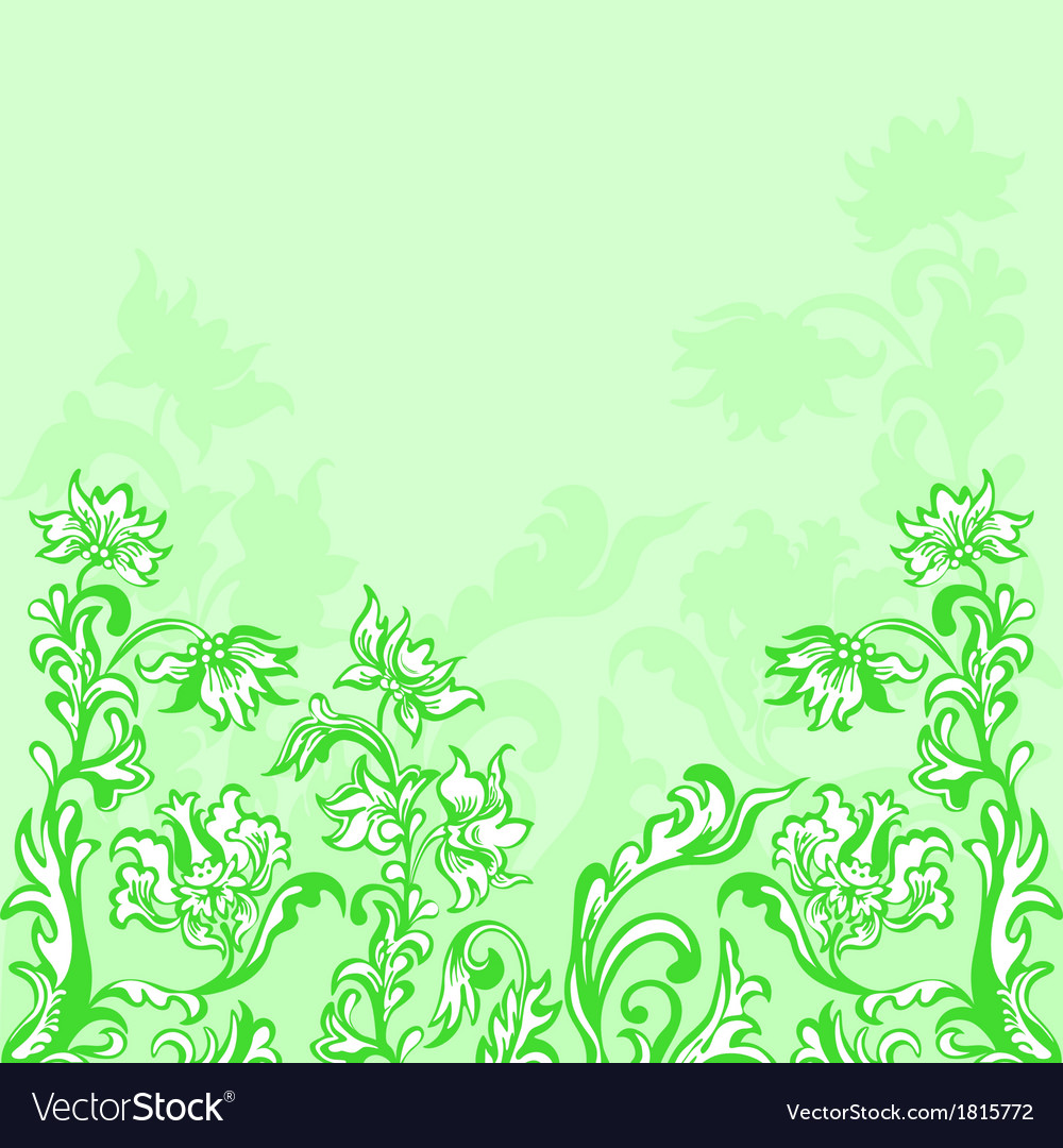 Floral background green vector | Price: 1 Credit (USD $1)