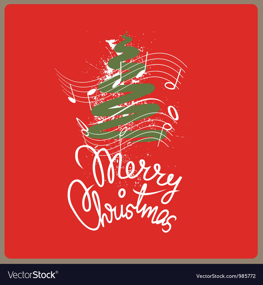 Merry christmas song vector | Price: 1 Credit (USD $1)