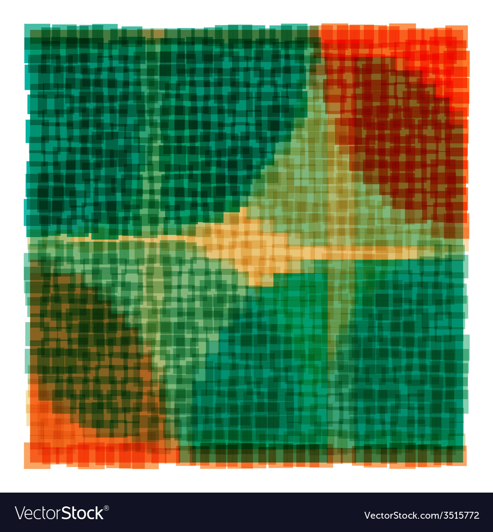 Overlapping colorful squares background vector | Price: 1 Credit (USD $1)