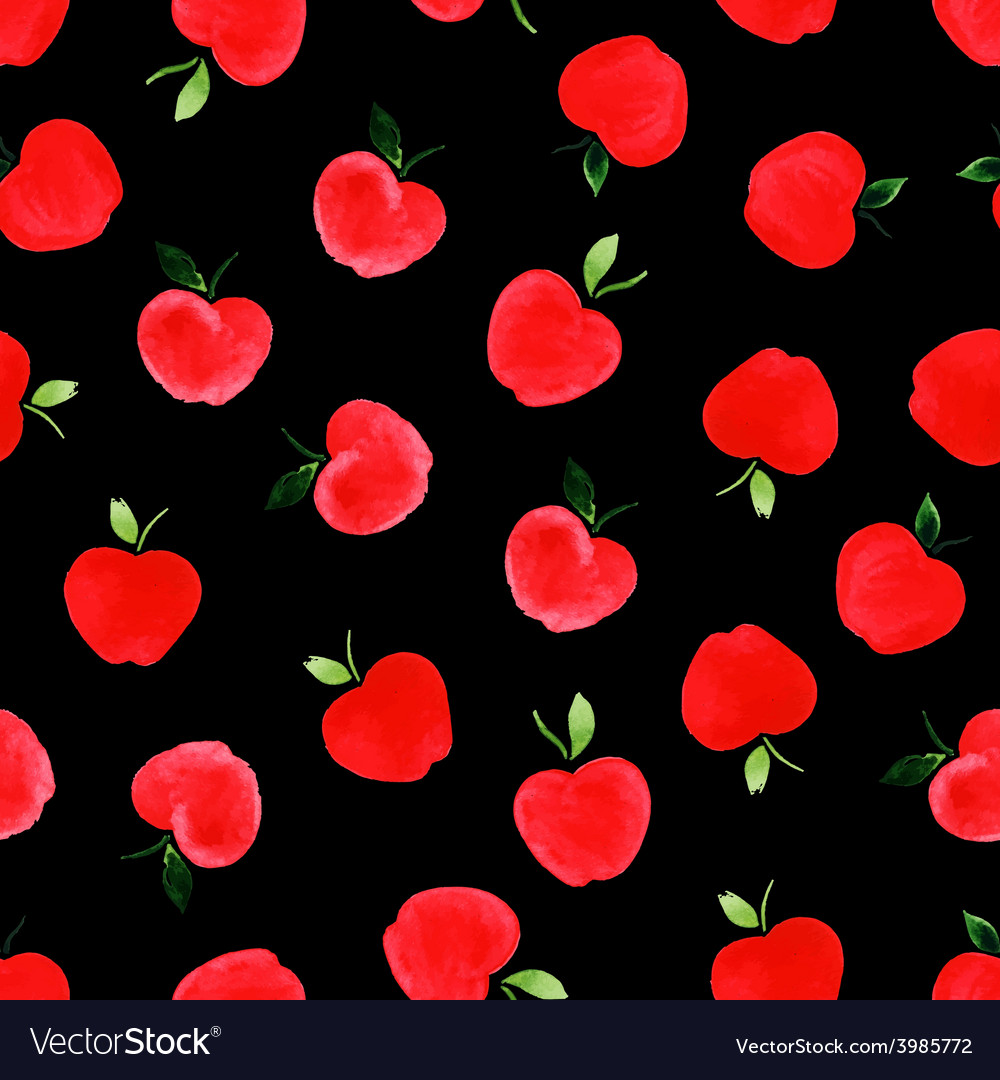 Pattern with apples vector | Price: 1 Credit (USD $1)