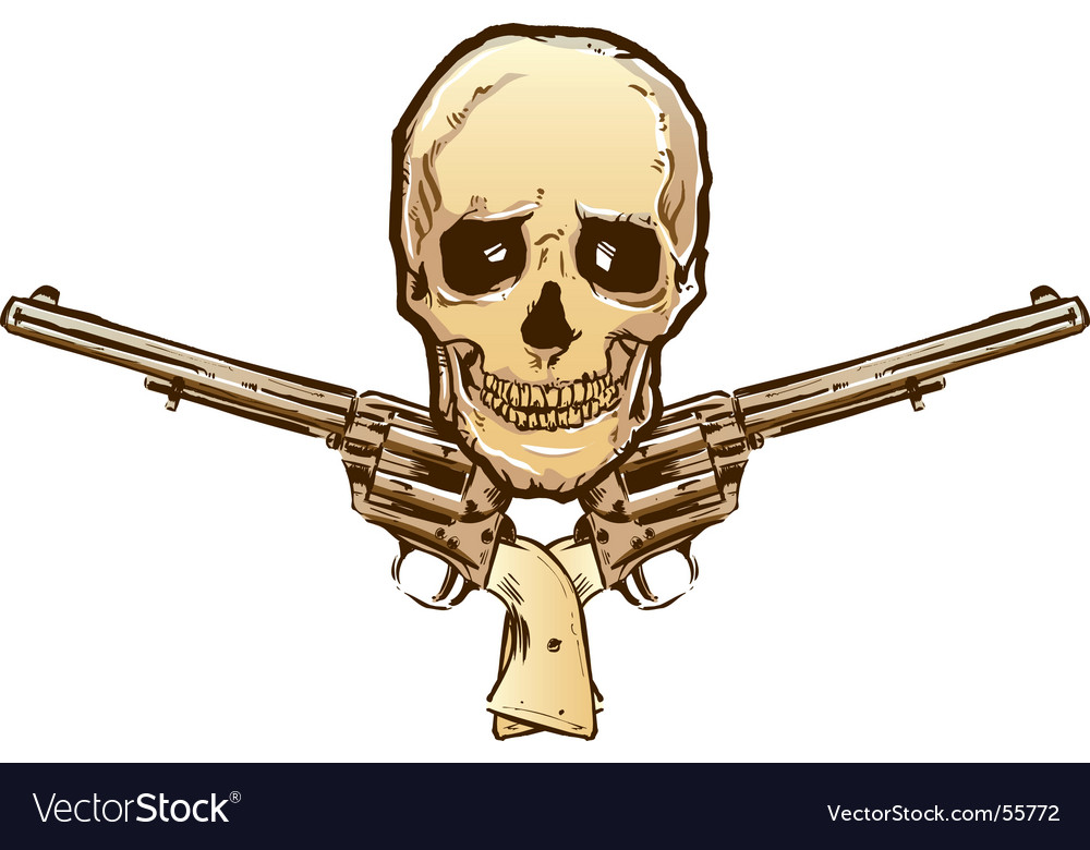 Skull guns vector | Price: 1 Credit (USD $1)