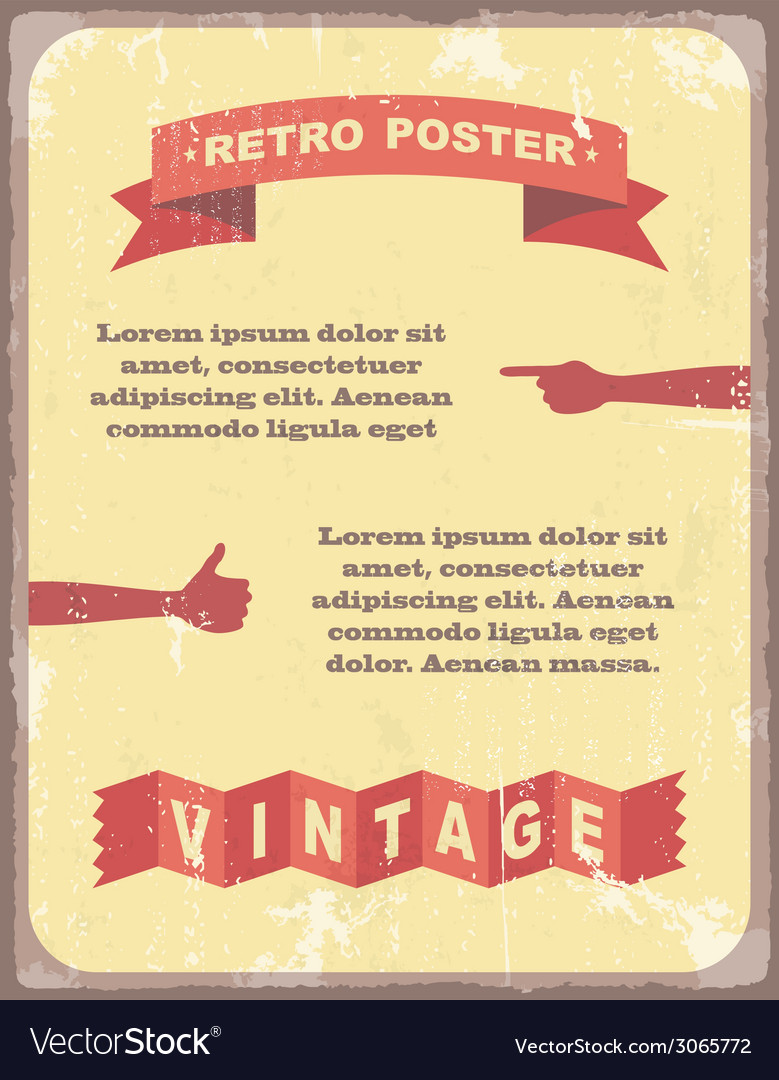 Vintage typography background vector | Price: 1 Credit (USD $1)