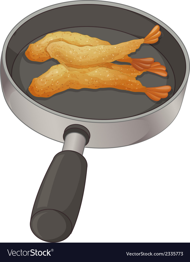 A pan with food vector | Price: 1 Credit (USD $1)
