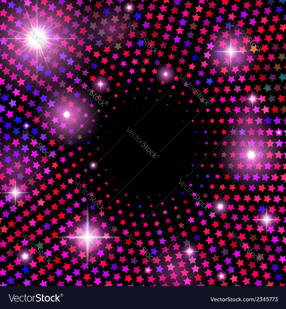 Abstract background with shiny stars vector | Price: 1 Credit (USD $1)