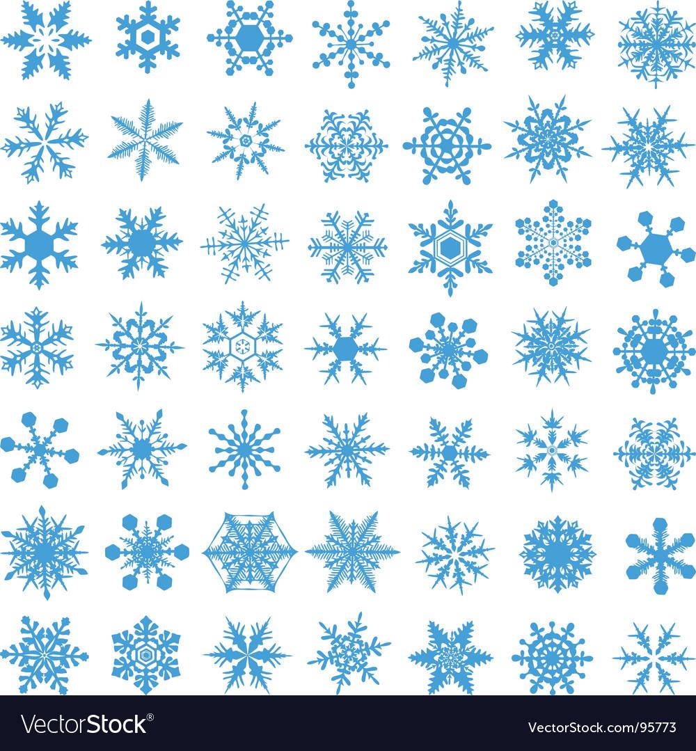Crystal gradient snowflakes vector | Price: 1 Credit (USD $1)