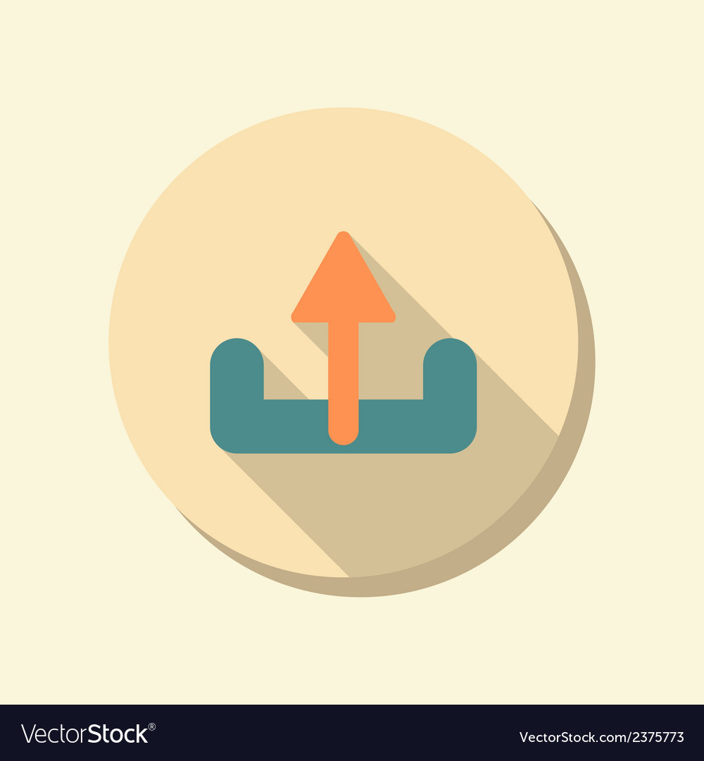 Flat circle web icon unloading vector | Price: 1 Credit (USD $1)