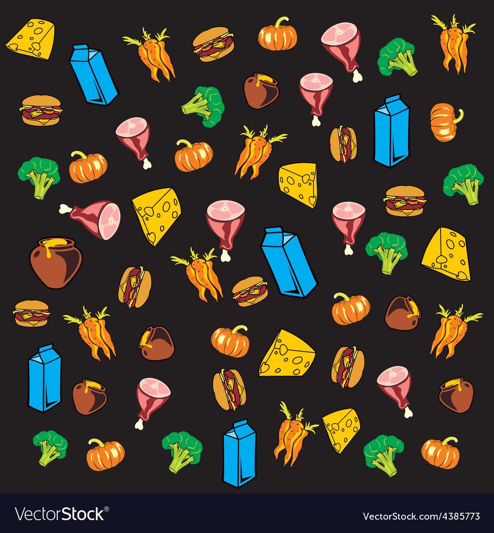 Food pattern vector | Price: 1 Credit (USD $1)