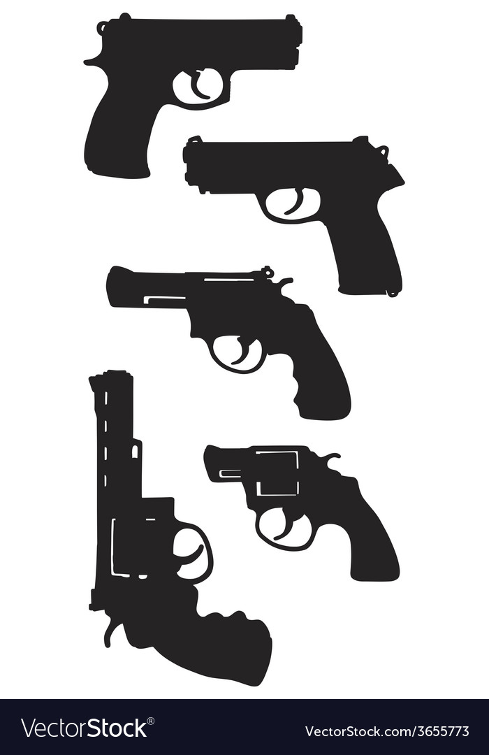 Handguns vector | Price: 1 Credit (USD $1)