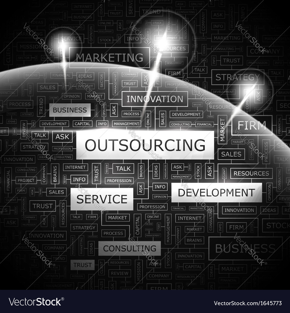 Outsourcing vector | Price: 1 Credit (USD $1)