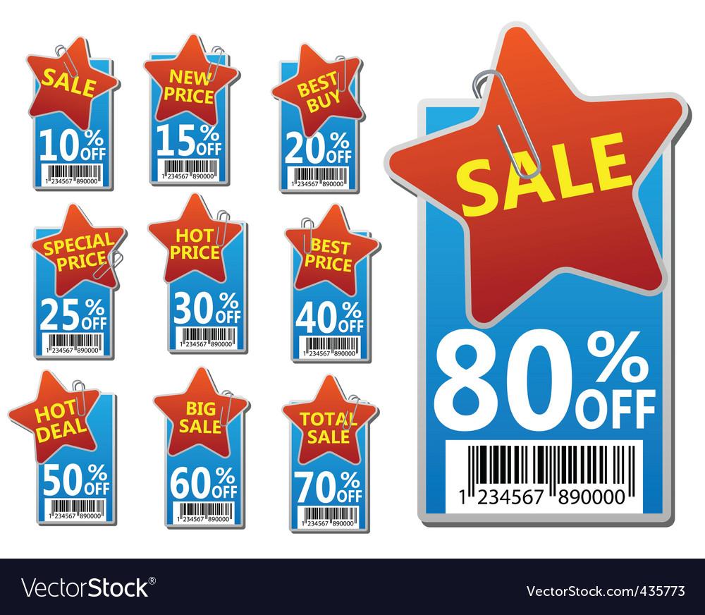 Sale labels set vector   Price: 1 Credit (USD $1)