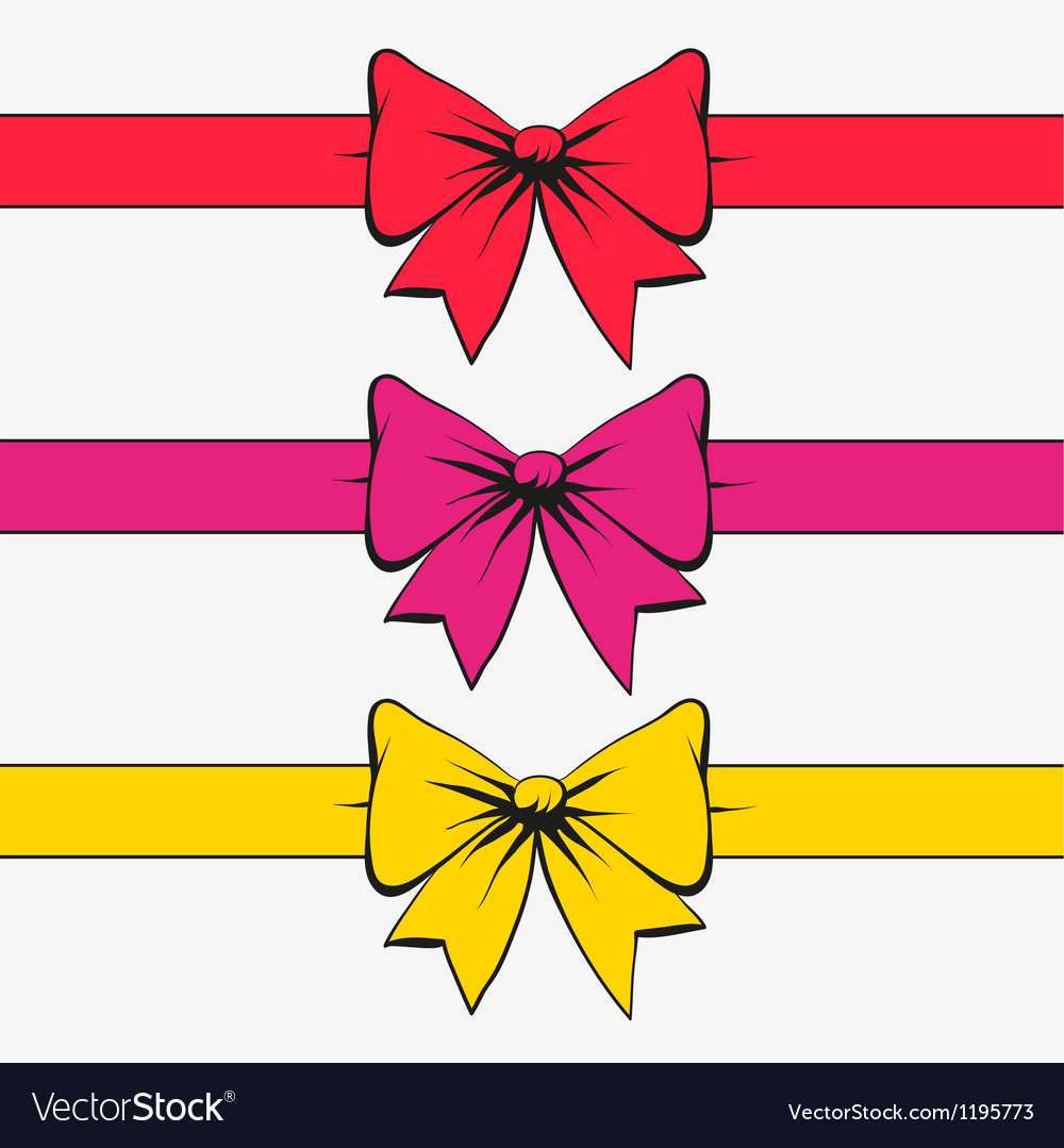 Set of bows with ribbons vector | Price: 1 Credit (USD $1)