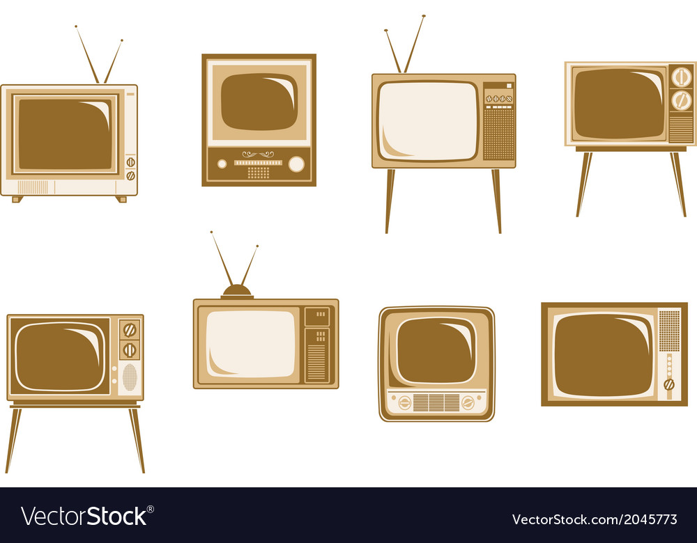 Set of retro tv vector | Price: 1 Credit (USD $1)
