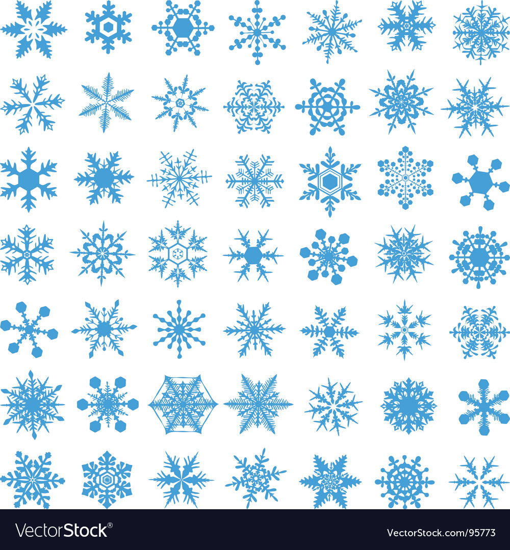 Set of snowflakes vector | Price: 1 Credit (USD $1)