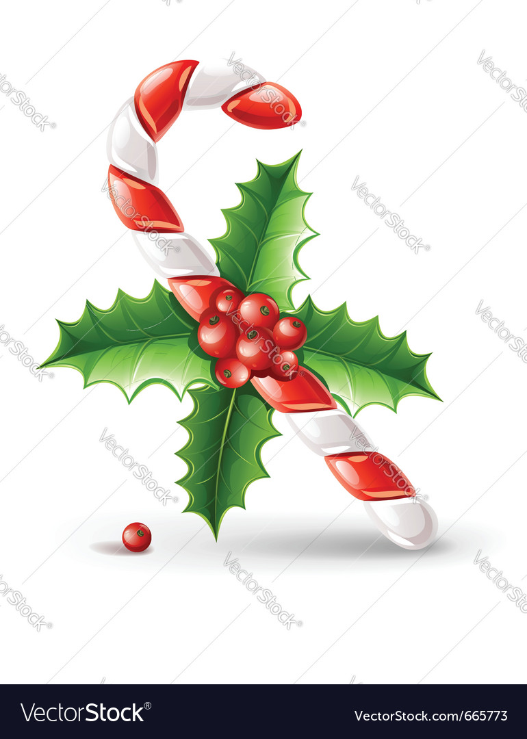 Sweet christmas caramel cane vector | Price: 3 Credit (USD $3)