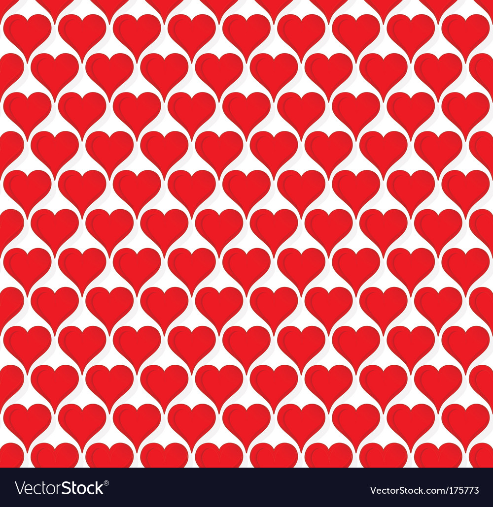 Valentine hearts seamless wallpaper vector | Price: 1 Credit (USD $1)