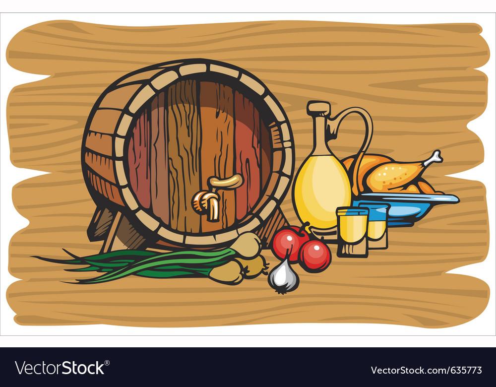Wine barrel vector | Price: 1 Credit (USD $1)
