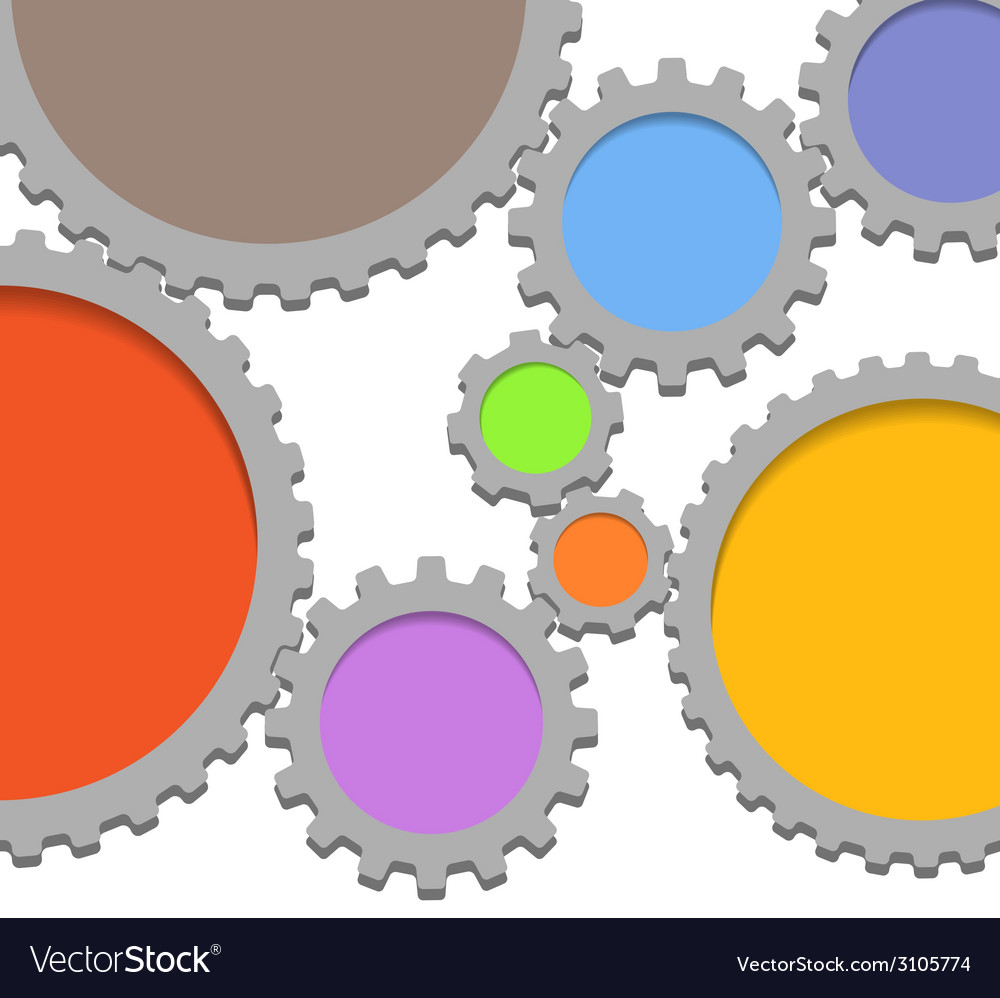 Abstract speech clouds of gear wheels vector | Price: 1 Credit (USD $1)