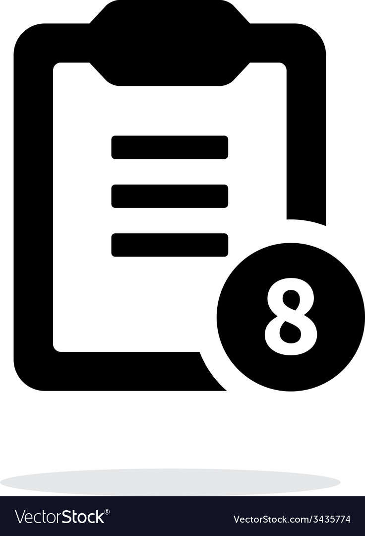 Clipboard with numbers simple icon on white vector | Price: 1 Credit (USD $1)