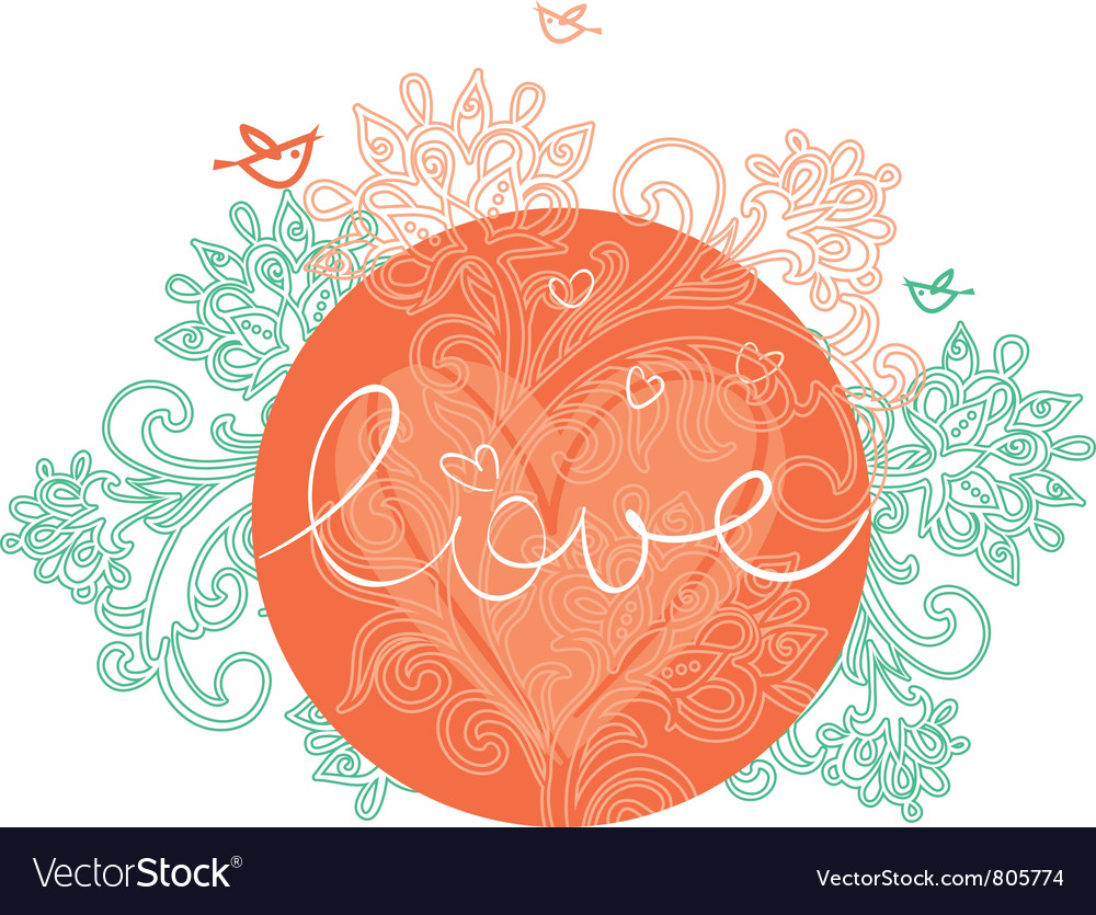 Floral design of valentines day vector | Price: 1 Credit (USD $1)