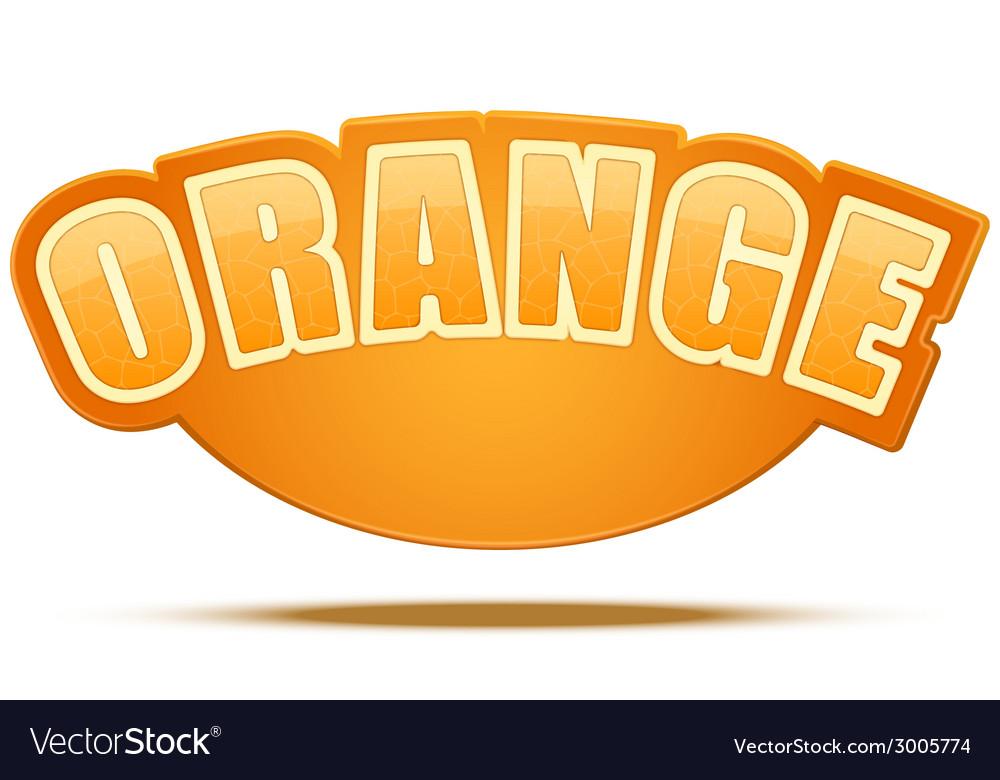 Label for orange juice or fruits bright premium vector | Price: 1 Credit (USD $1)
