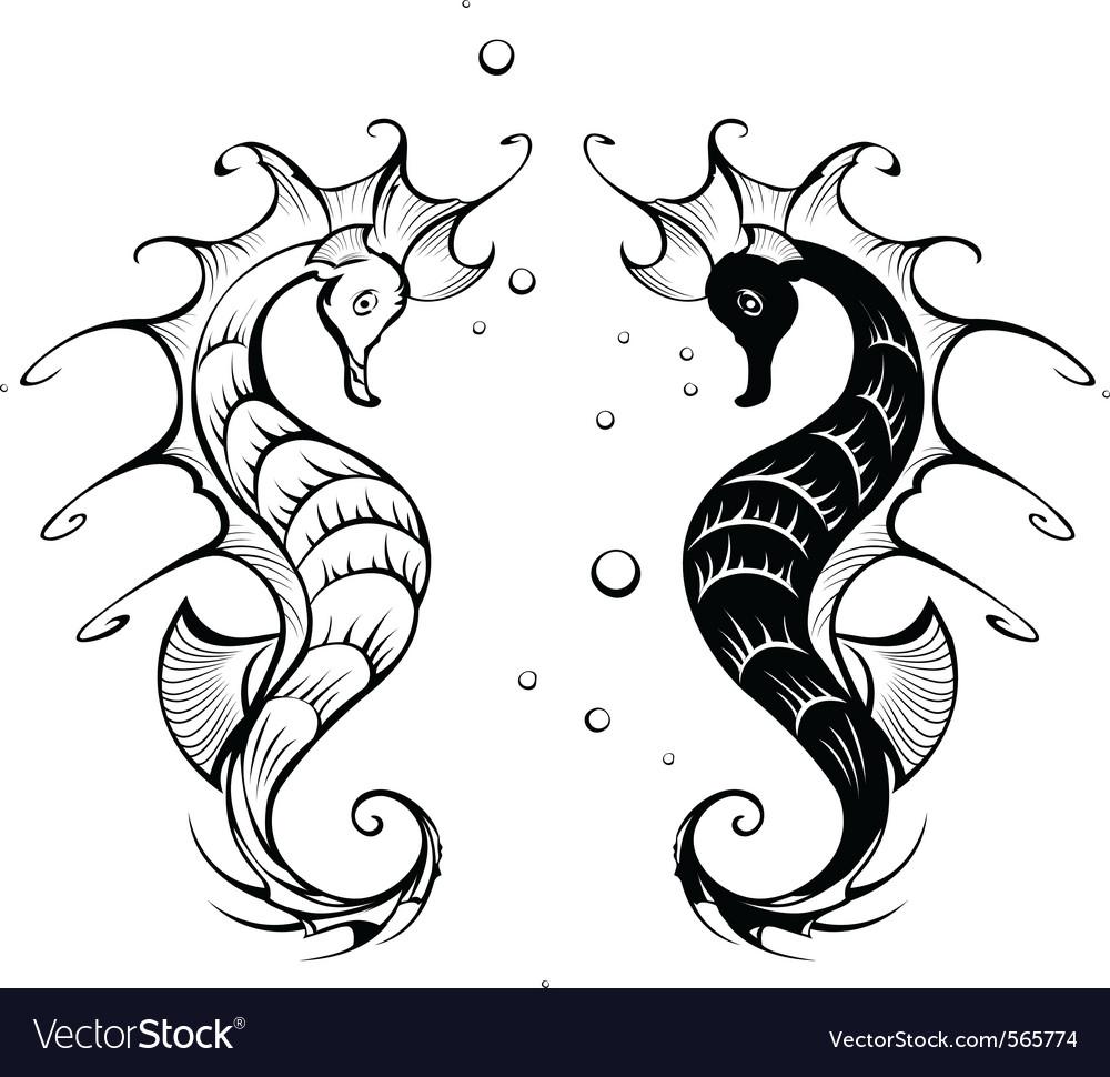 Seahorses vector | Price: 1 Credit (USD $1)