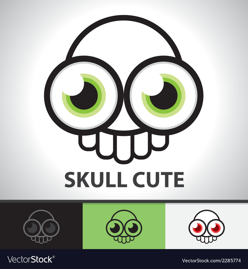Skull cute symbol vector | Price: 1 Credit (USD $1)