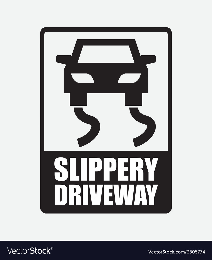 Slippery driveway vector | Price: 1 Credit (USD $1)