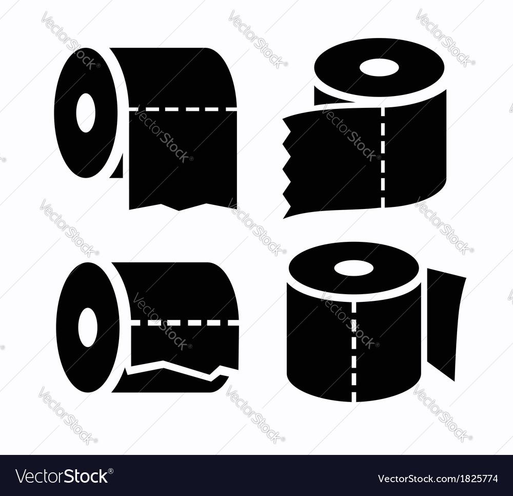 Toilet paper icon vector | Price: 1 Credit (USD $1)