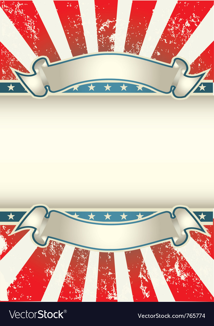 Usa colors poster vector | Price: 1 Credit (USD $1)