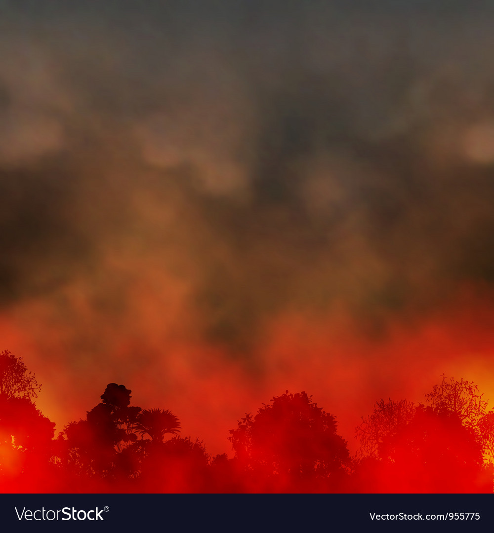 Forest fire vector | Price: 1 Credit (USD $1)