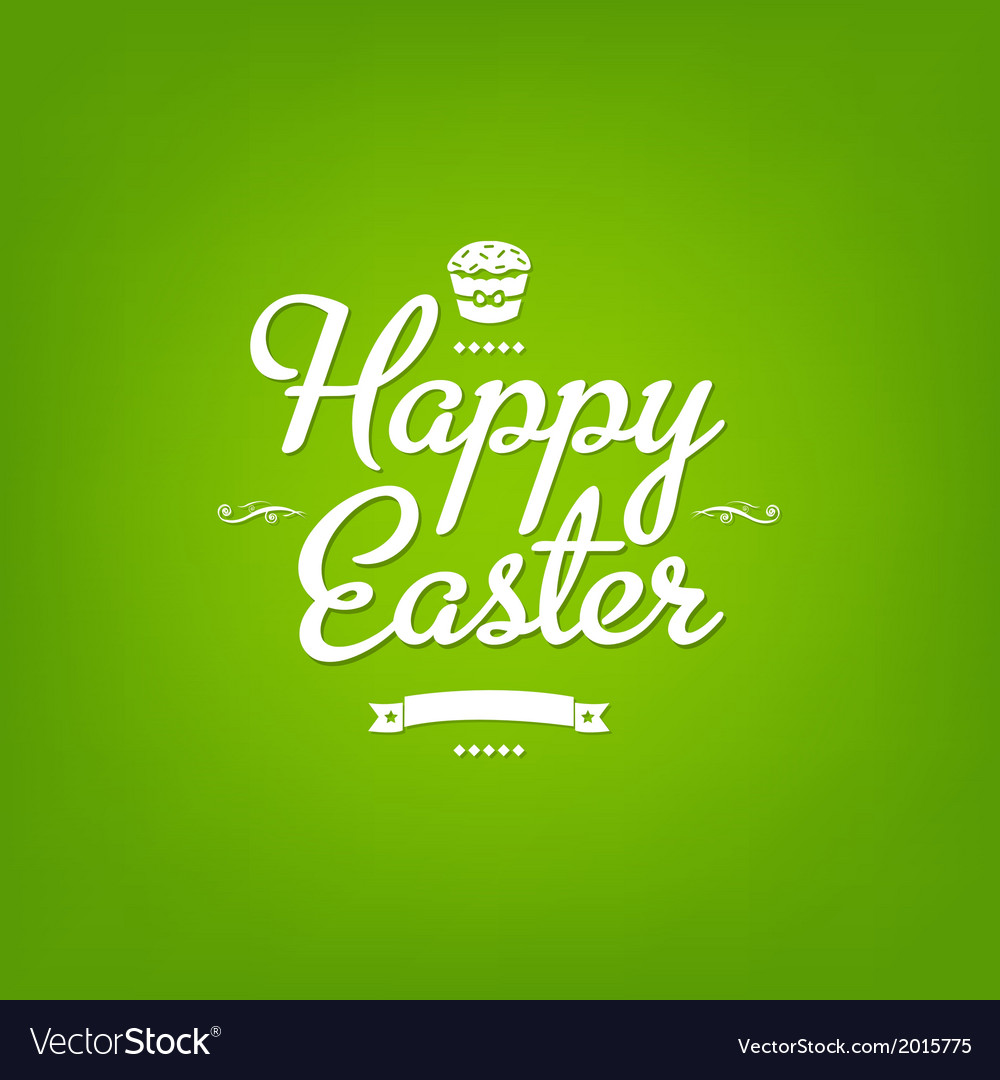 Happy easter green card vector | Price: 1 Credit (USD $1)