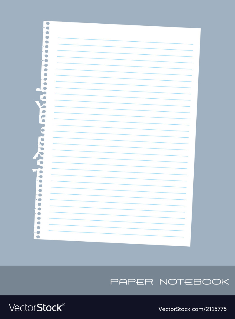 Paper notebook vector | Price: 1 Credit (USD $1)