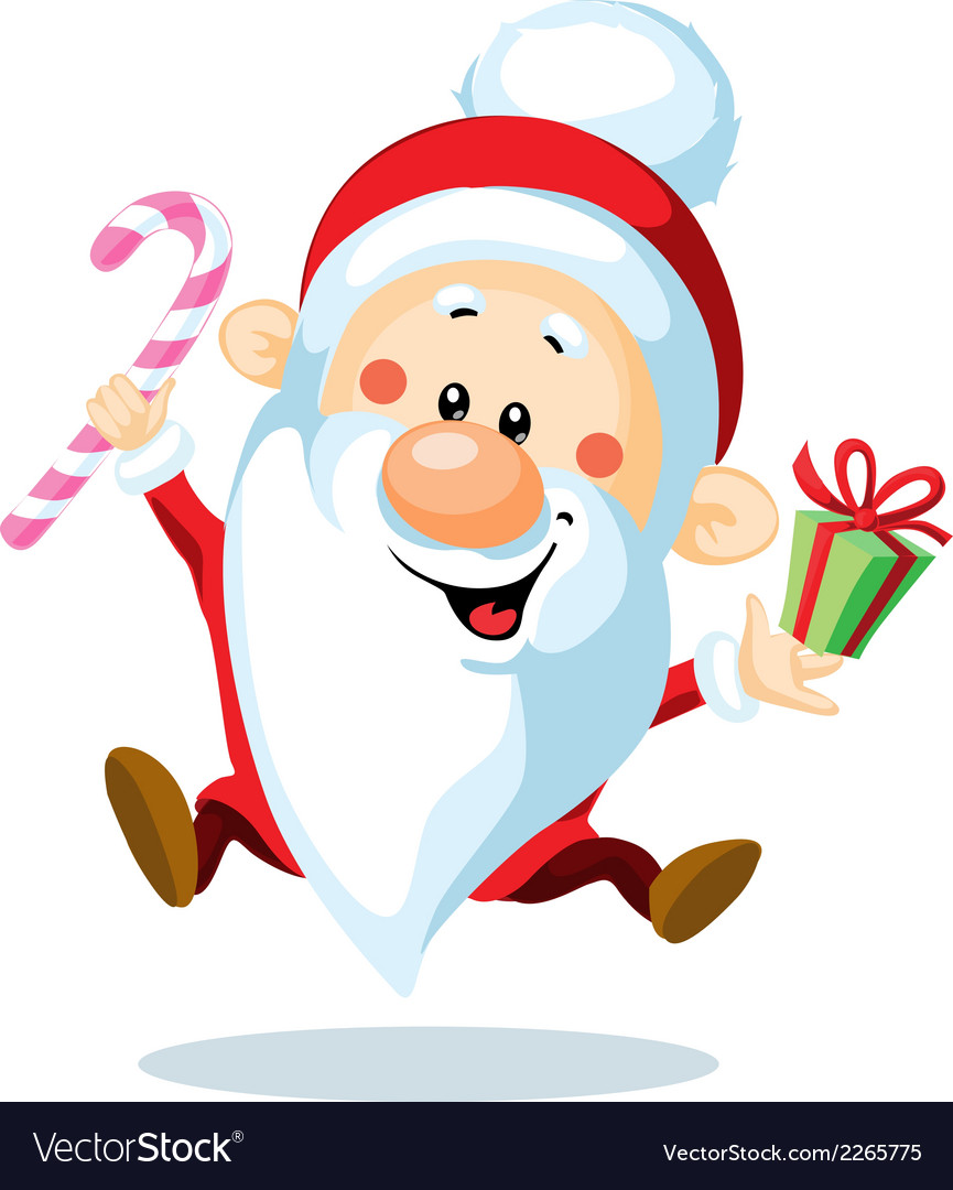 Santa claus is looking forward to christmas - vector | Price: 1 Credit (USD $1)