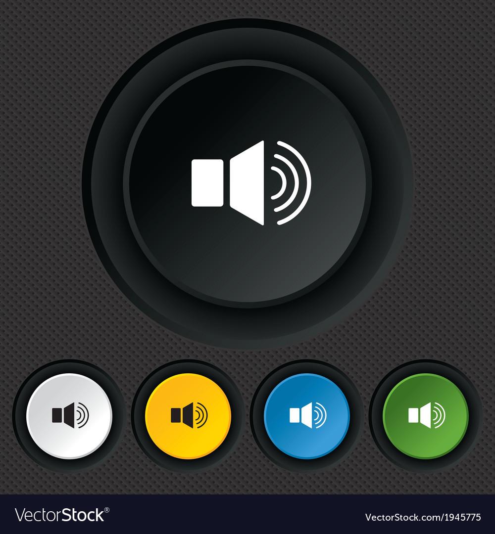 Speaker volume sign icon sound symbol vector | Price: 1 Credit (USD $1)