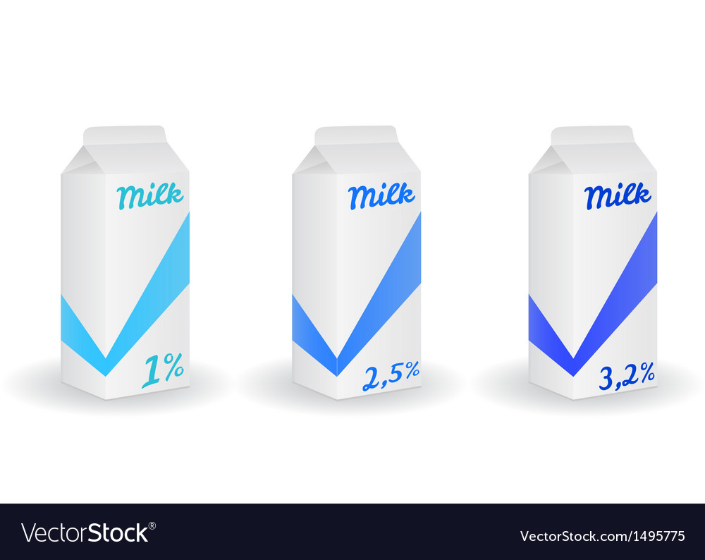 Three milk boxes vector | Price: 1 Credit (USD $1)