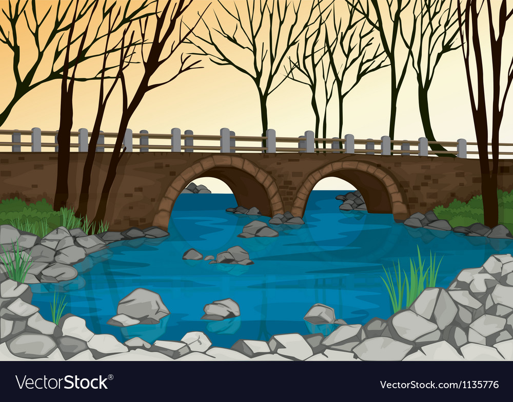Bridge in nature vector | Price: 1 Credit (USD $1)